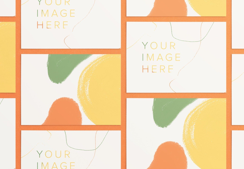5x7in card mockup diagonal layout image03