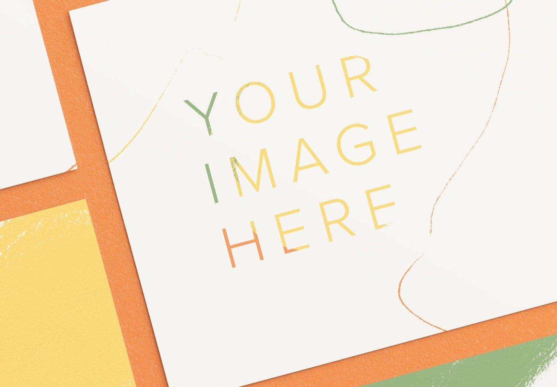 5x7in card mockup diagonal layout image04