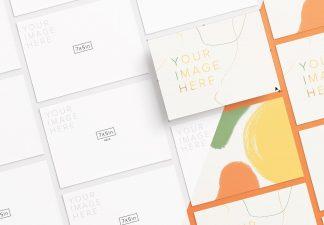 5x7in card mockup diagonal layout thumbnail