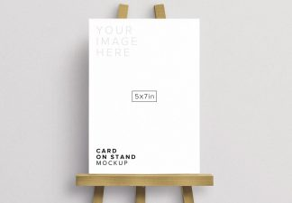 5x7in card on canvas stand thumbnail