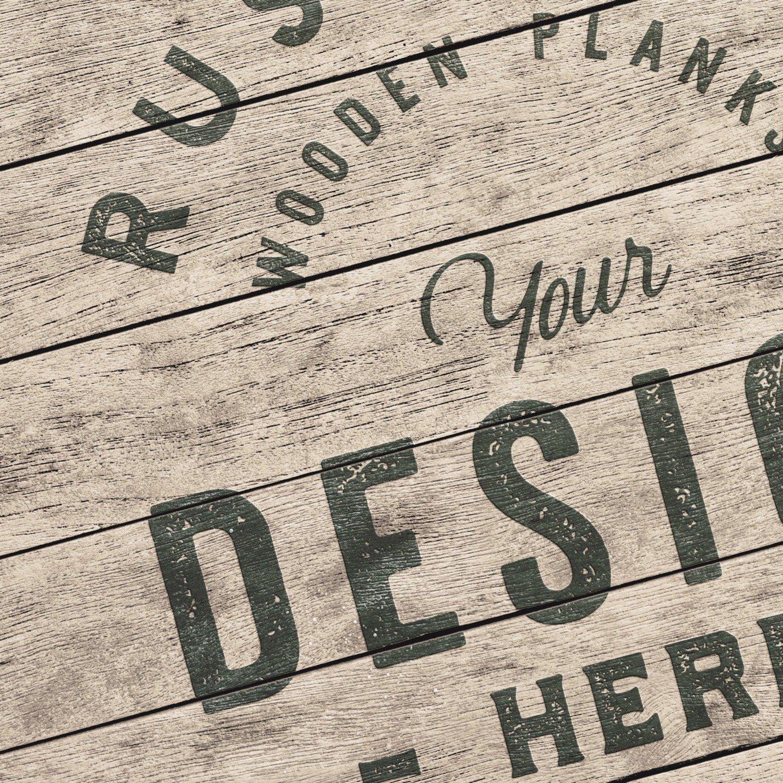 aged rustique wooden planks background mockup image03