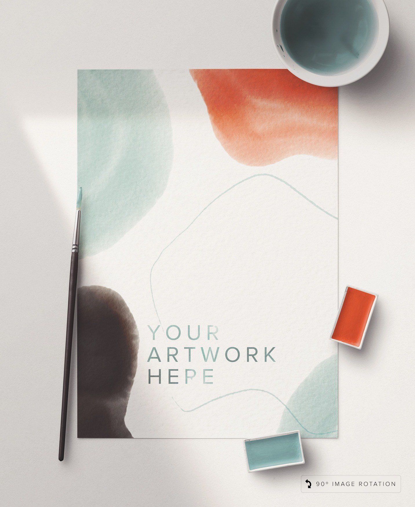 artist watercolor custom scene mockup image03