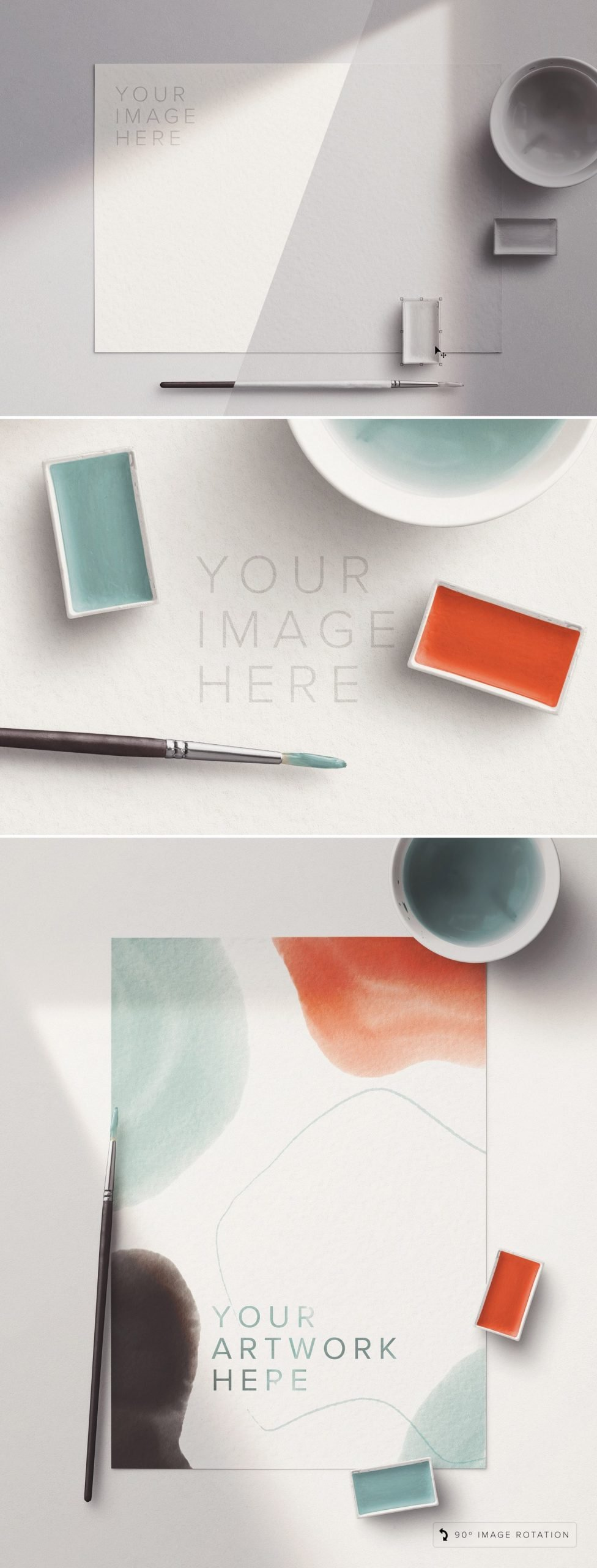 artist watercolor custom scene mockup preview1 1 scaled