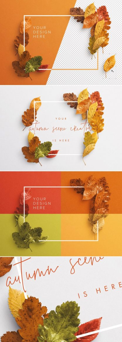 autumn leaves frame mockup preview1 1 scaled
