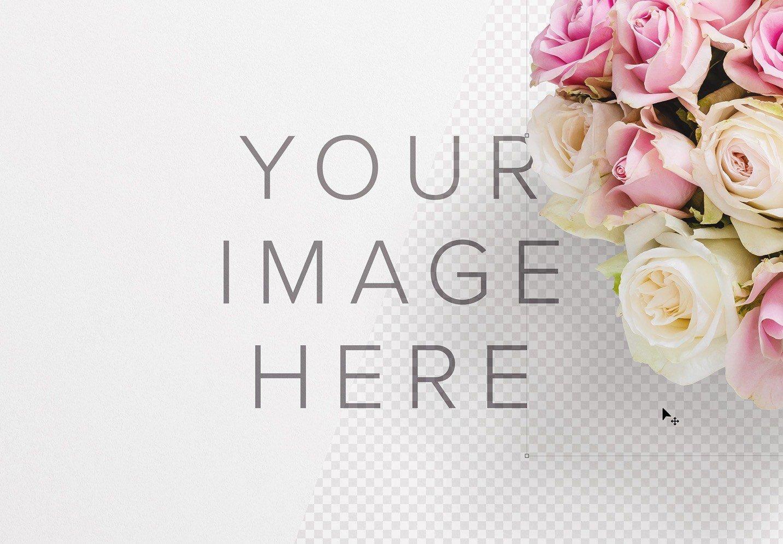 bouquet roses mockup image01