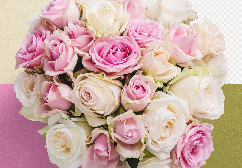 bouquet roses mockup image02