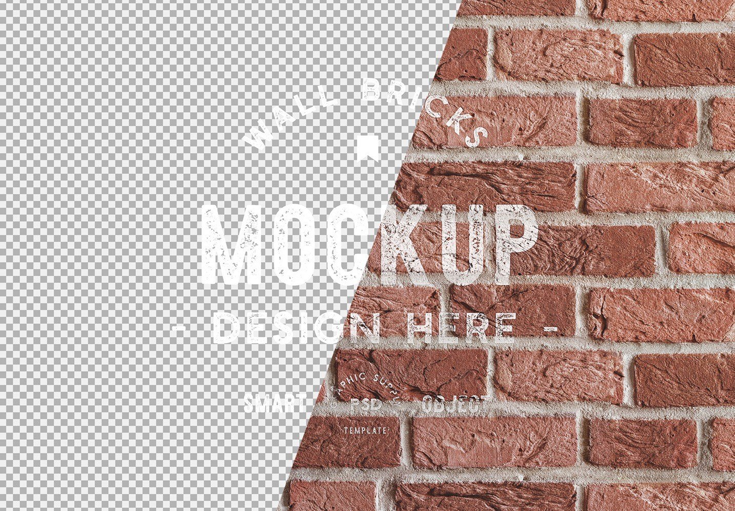 brick wall background mockup image01