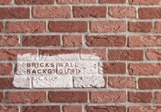 brick wall background mockup thumbnail