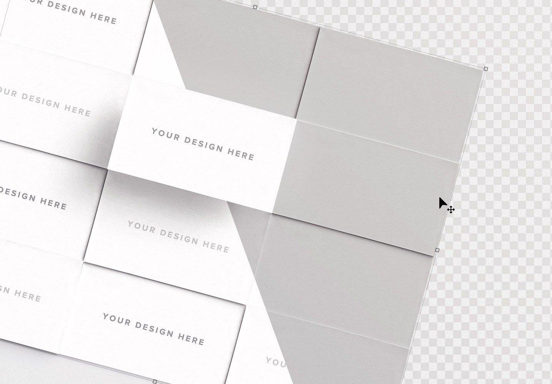 business cards layout mockup image01