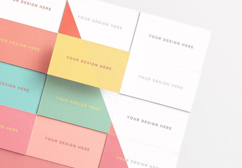 business cards layout mockup thumbnail
