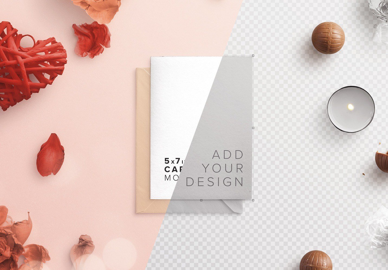 card and envelope romantic scene creator mockup image01