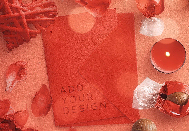 card and envelope romantic scene creator mockup image02