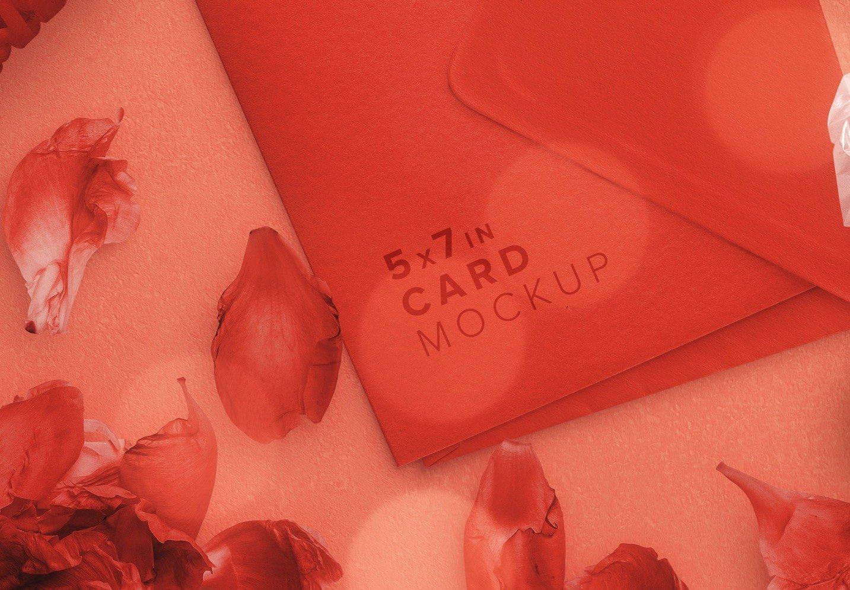 card and envelope romantic scene creator mockup image04