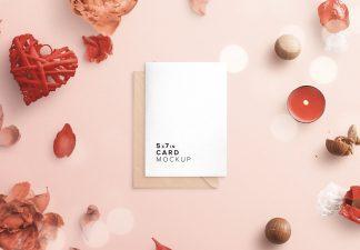 card and envelope romantic scene creator mockup thumbnail