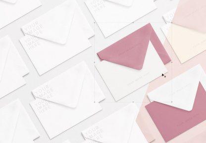 cards and envelope diagonal layout mockup 2 thumbnail