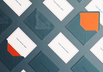 cards and envelope diagonal layout mockup image03