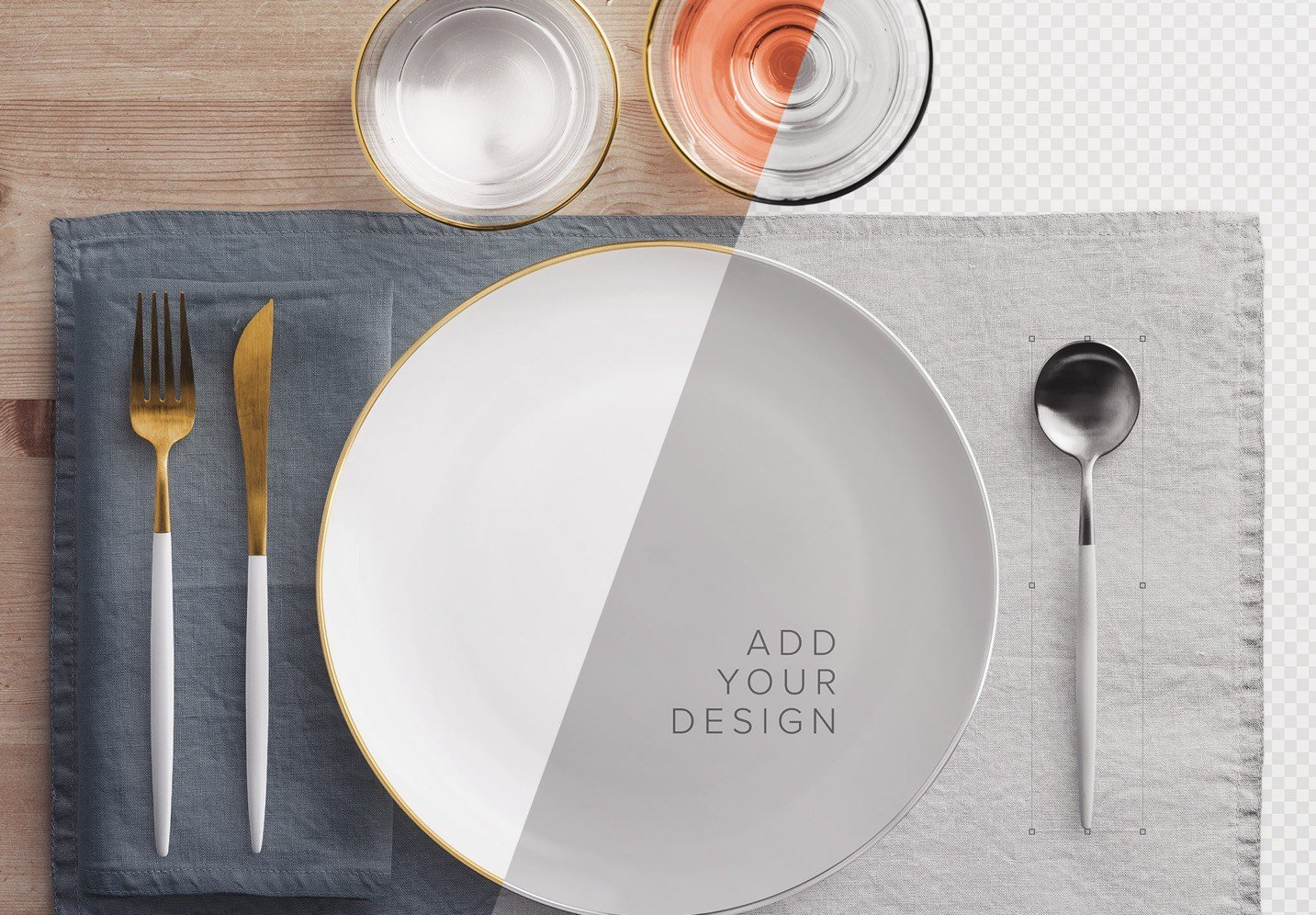 dinner table scene creator mockup image01