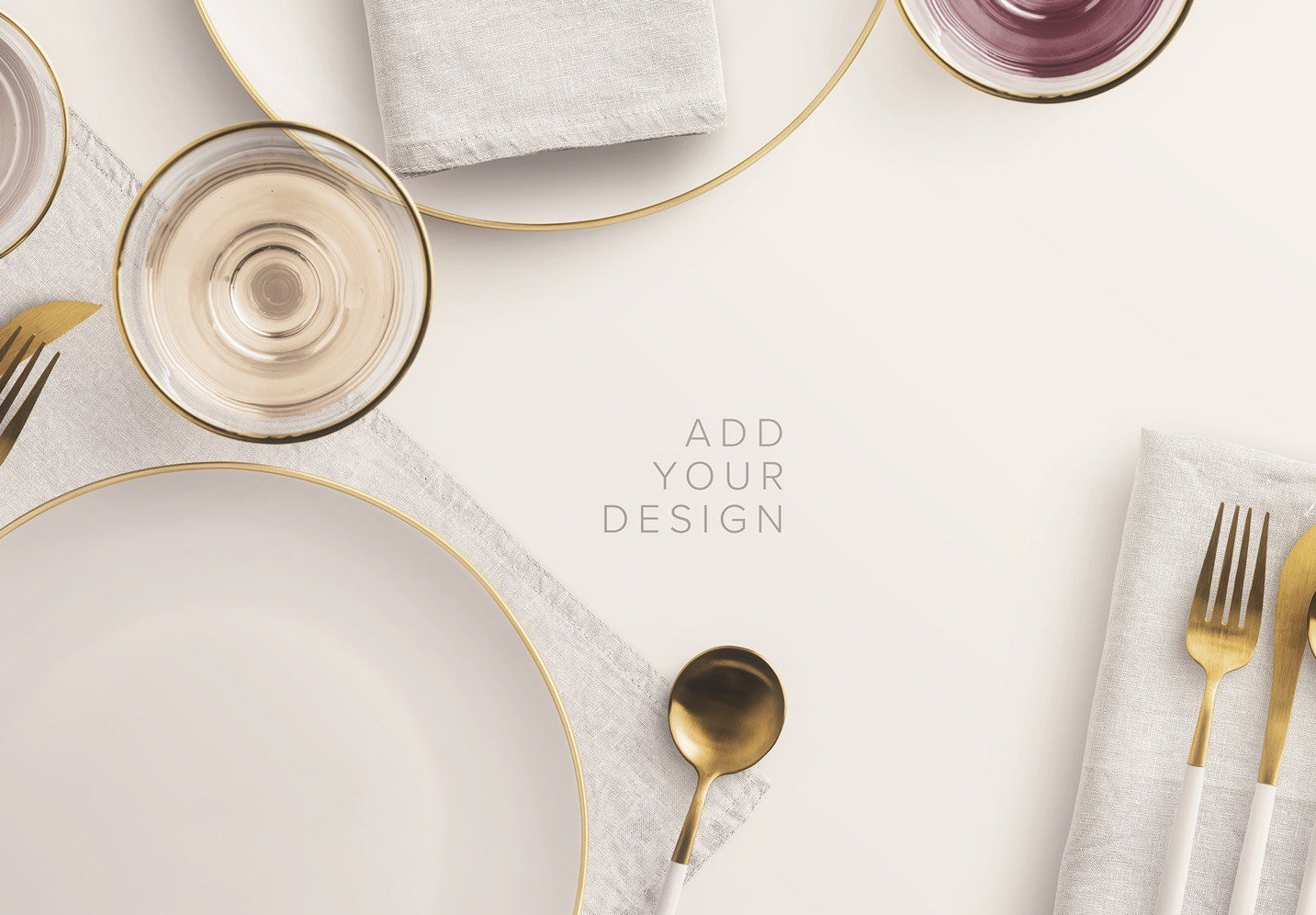 dinner table scene creator mockup image03