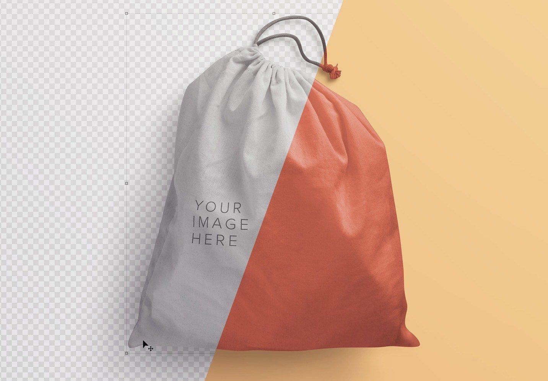drawstring sack bag mockup image01