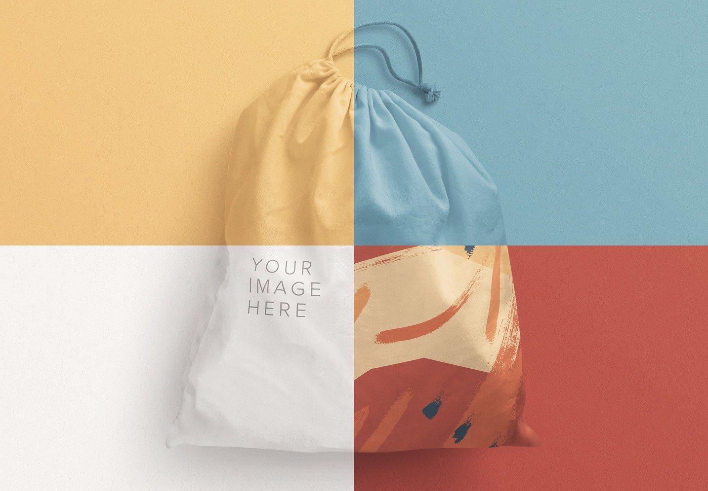 drawstring sack bag mockup image02