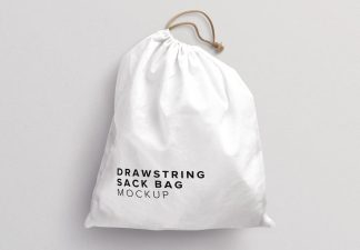 drawstring sack bag mockup thumbnail