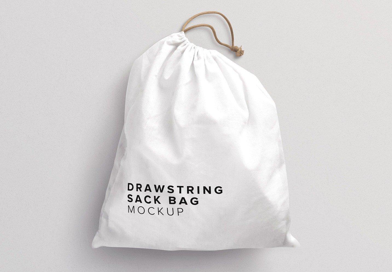 drawstring sack bag mockup thumbnail