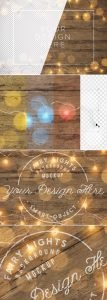 fairy lights wooden background mockup preview1 1 scaled