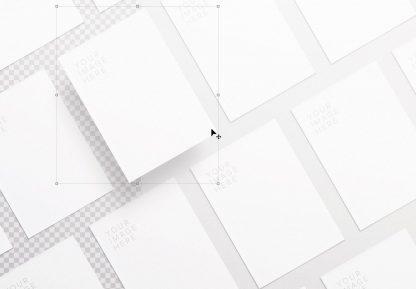 flyer diagonal layout mockup image01