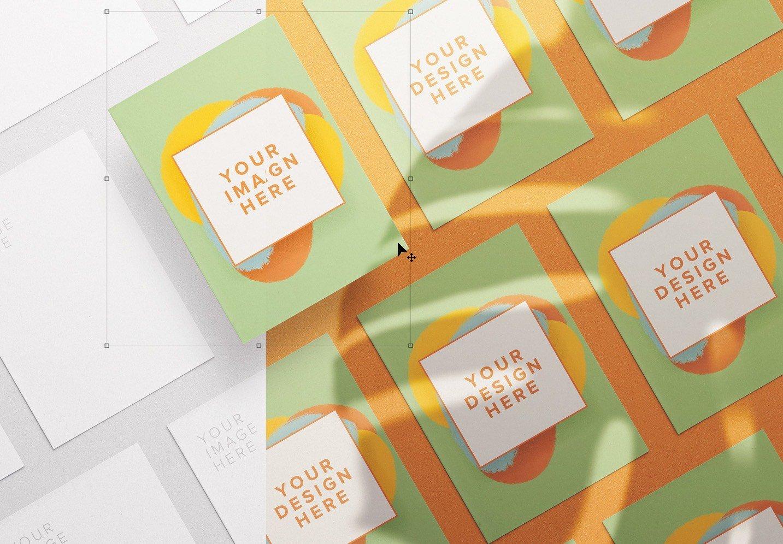 flyer diagonal layout mockup thumbnail
