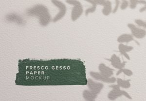 fresco gesso paper background mockup thumbnail