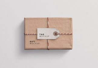gift box mockup thumbnail