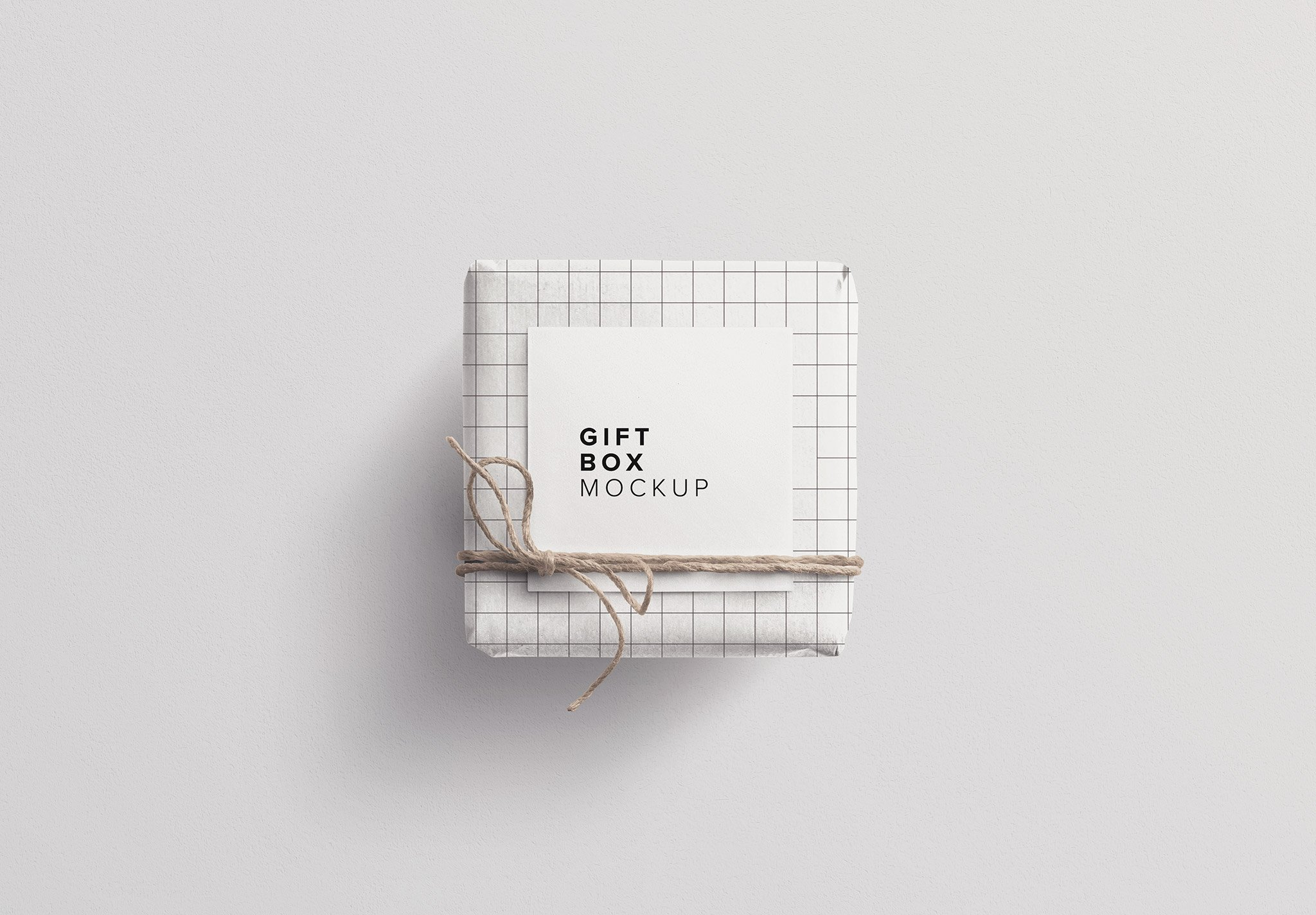 gift box mockup w twine n gift tag thumbnail