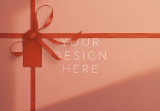 gift ribbons and bow background thumbnail