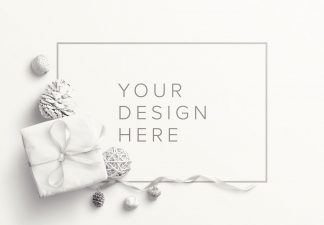 gift winter frame mockup thumbnail