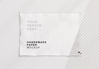 handmade paper mockup thumbnail