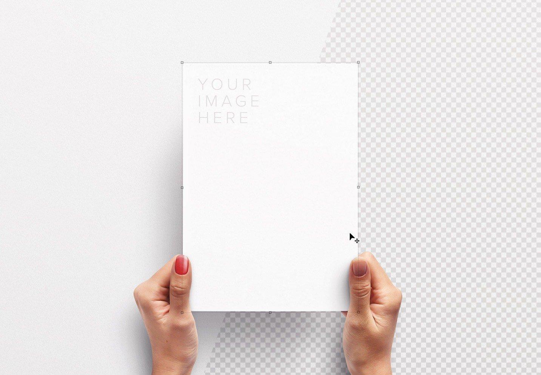 hands holding paper vertical mockup image01