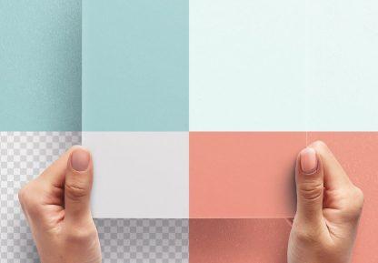 hands holding paper vertical mockup image02