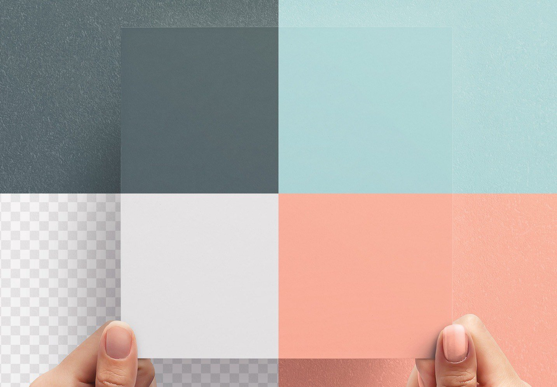 hands holding square paper mockup image02