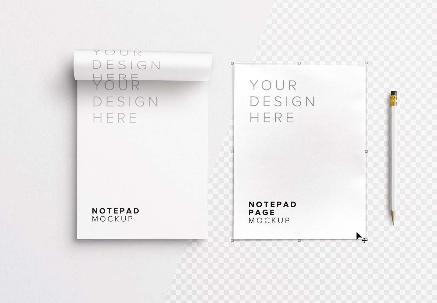 notepad w pencil mockup image01