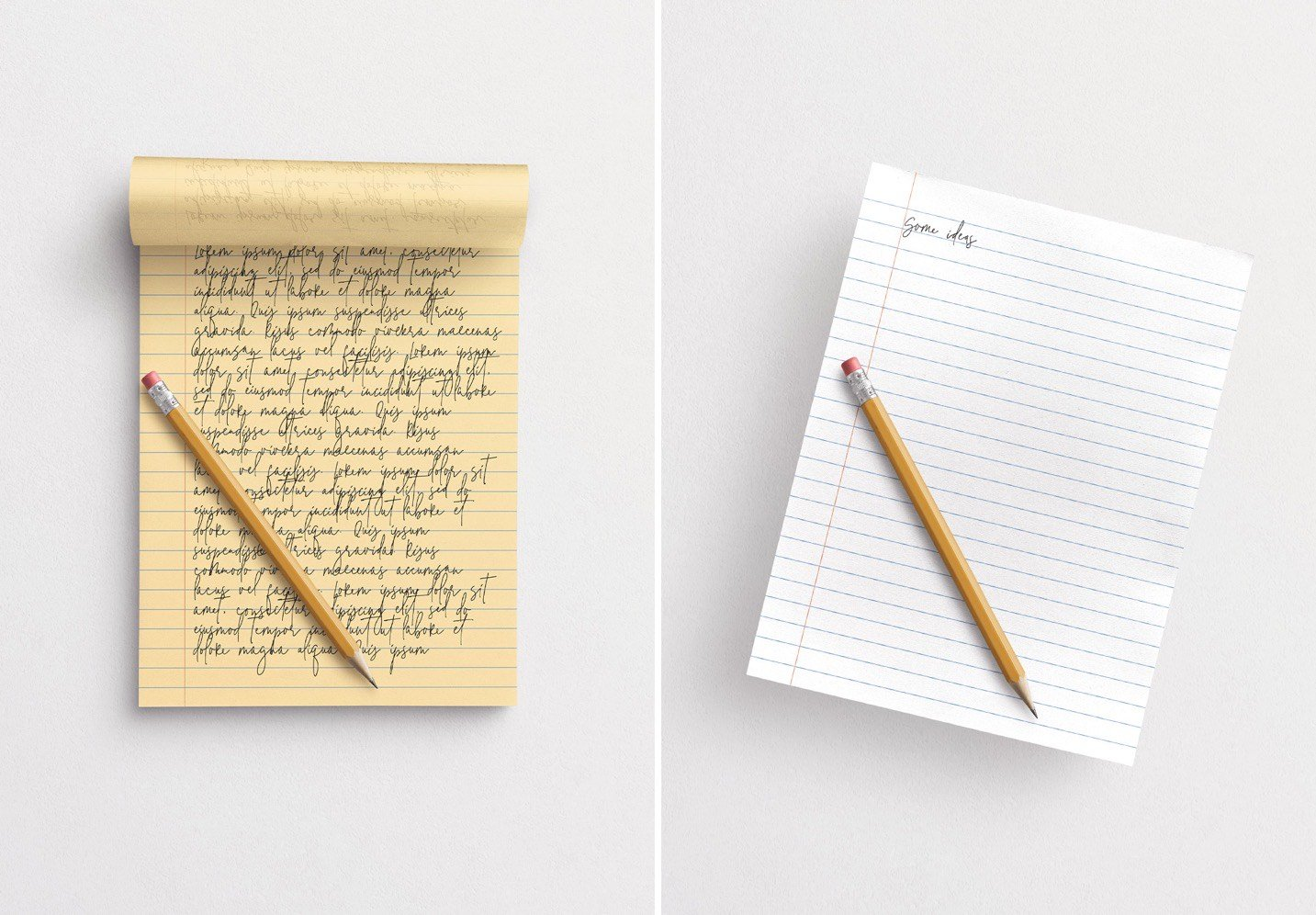 notepad w pencil mockup image03