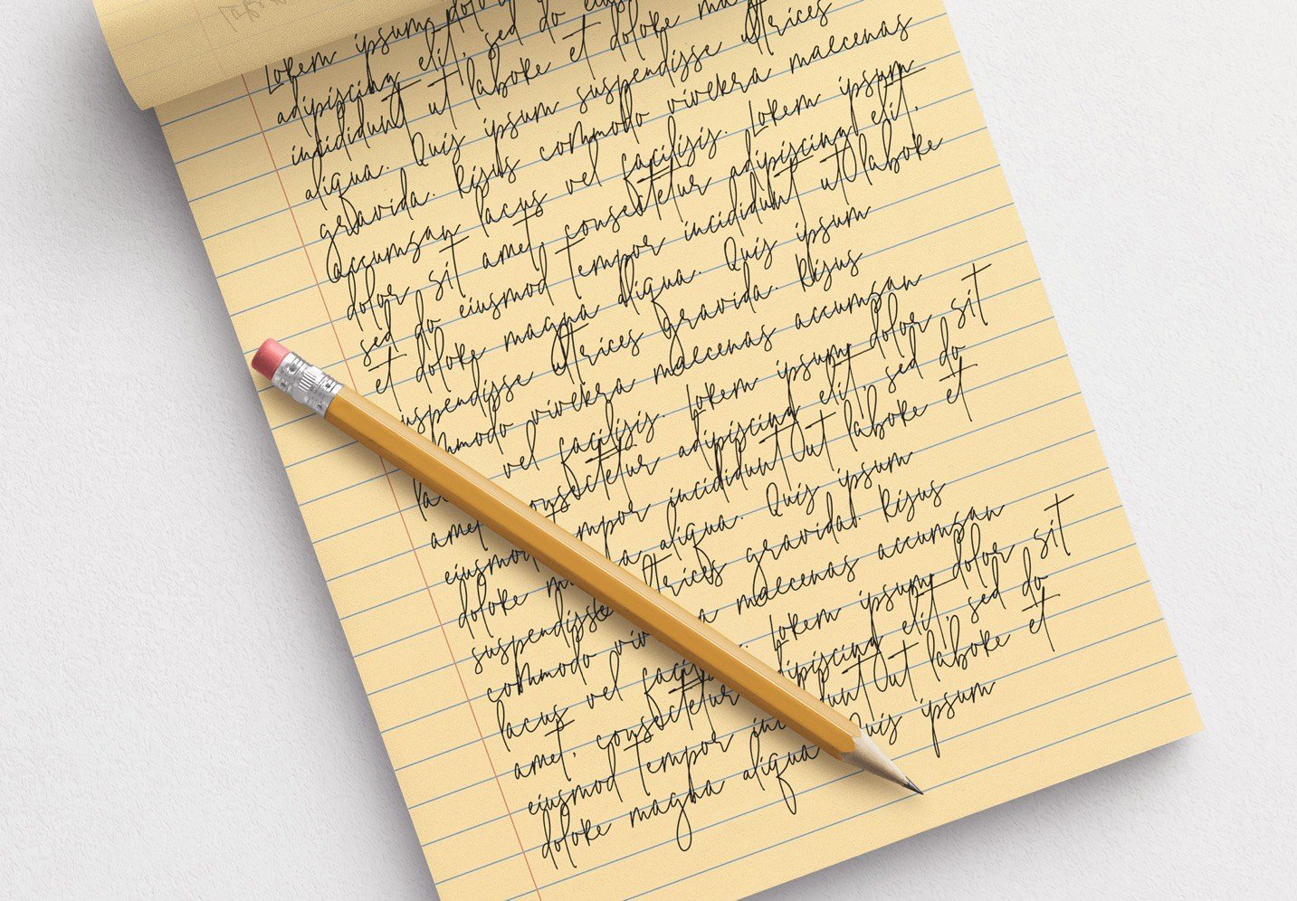 notepad w pencil mockup image04