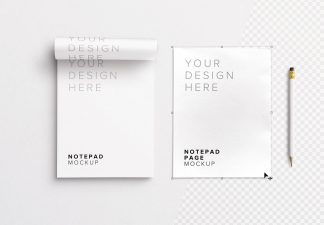 notepad w pencil mockup thumbnail