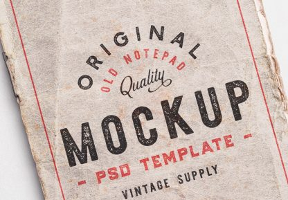 old notepad cover mockup image04