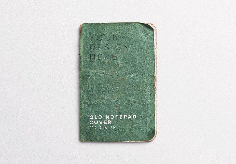 old notepad cover mockup thumbnail