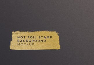 paper hot foil mockup thumbnail