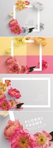 peonies flower w frame mockup preview1 1 scaled