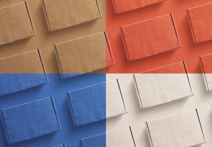 postal box mockup diagonal layout image02
