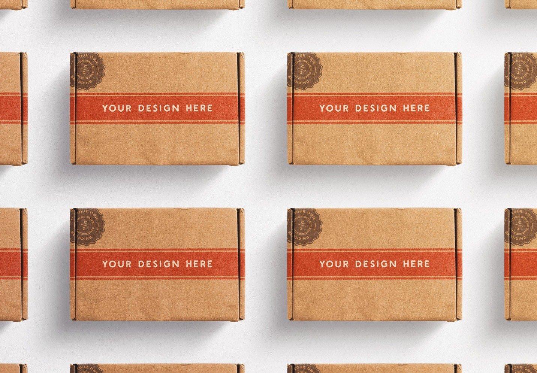 postal box mockup diagonal layout image03