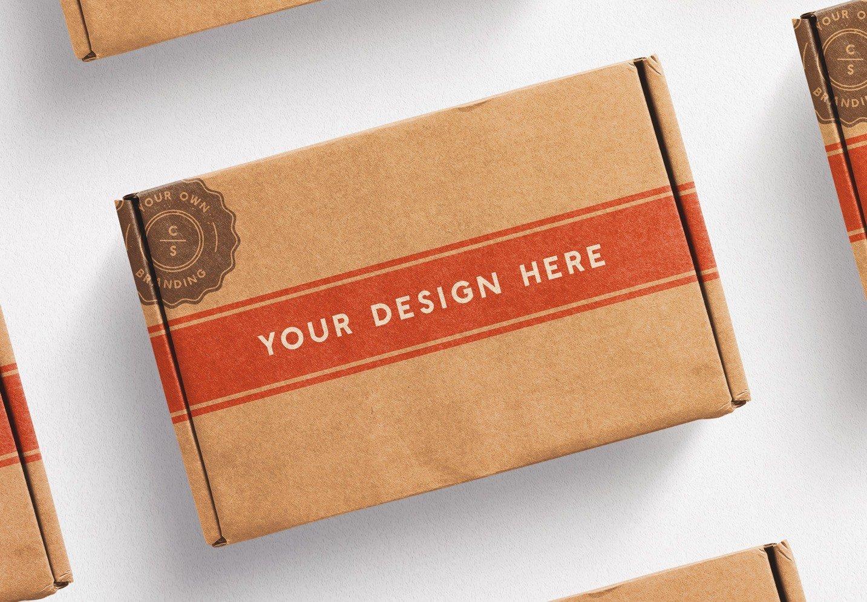 postal box mockup diagonal layout image04