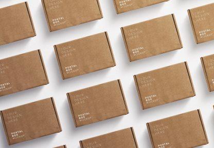 postal box mockup diagonal layout thumbnail